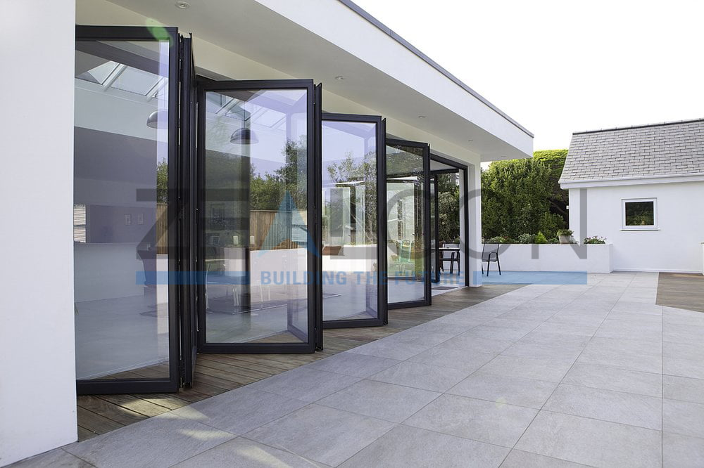 GLASS ROOM WITH FOLDING DOORS PRIVATE VILLA PROJECT