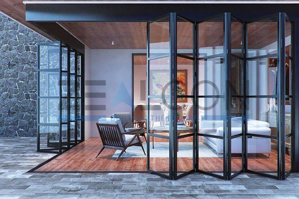GLASS ROOM PRIVATE VILLA PROJECT WITH BI-FOLD FOLDING DOORS